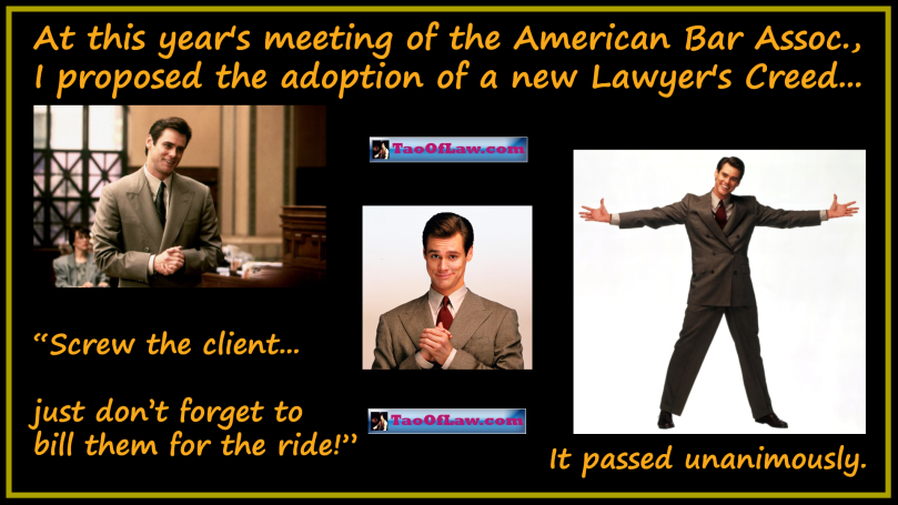 MEME - Liar Liar - New Lawyer Creed