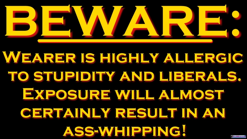 MEME - Beware of Stupidty & Liberals T-Shirt